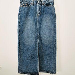 Gap Jeans Denim Maxi Skirt Size 4